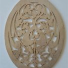 Arts and Crafts fret cut hanging ornament stylized vines  4