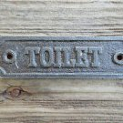 SOLID ANTIQUE STYLE CAST IRON TOILET DOOR SIGN DOOR PLAQUE WH14