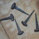Set of 5 handmade square head wrought iron nails door stud hanger IN4