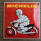 Quality porcelain advertising sign Michelin motorcycle garage plaque square M5