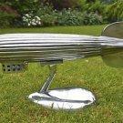 Vintage style polished metal Zeppelin model airship desk ornament