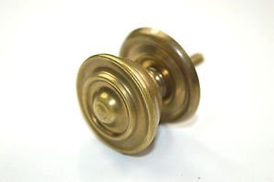 Vintage antique brass classic cupboard knob cabinet handle pull P12