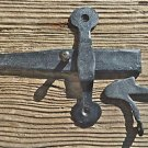 7 INCH WROUGHT IRON CUPBOARD LATCH LOCK COUNTRY ANTIQUE RUSTIC DOOR WH21