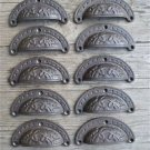 A set of 10 Victorian cast iron cup drawer pull furniture handles chest AL1