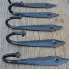 SET OF 5 6 INCH BLACK IRON ANCIENT ENGLISH DESIGN COAT HOOKS HANGER HOOK OB3