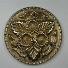 Beautiful Arts & Crafts brass ormolu roundel mount mirror furniture emblem SMB4