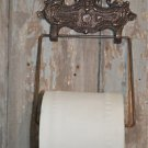 CLASSIC EDWARDIAN CAST IRON AND WOODEN TOILET ROLL HOLDER LION HEAD WH40