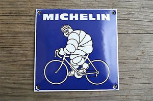 Quality porcelain advertising sign Michelin bicycle garage plaque square M6