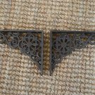 Pair of cast iron small Victorian wall shelf brackets bracket 5 inch AL30