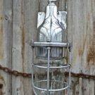 RETRO STYLED MACHINE AGE HANGING PENDANT LIGHT CAGE LAMP URBAN BULKHEAD SB1