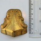 Original antique pressed brass furniture mount mirror cartouche emblem T11
