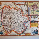 LOVELY VINTAGE REPLICA  JOHN SPEED MAP OF HEREFORDSHIRE CIRCA.1610 HEREFORD