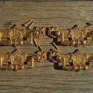 4 Regency brass folliage drawer handle draw pull desk chest cabinet 2025