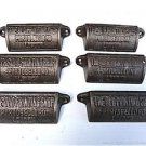 SET OF 6 ANTIQUE STYLE CAST IRON HANDLE OLD PRINTING SHOP PORTOBELLO RD LONDON
