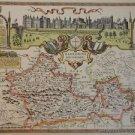 OLD COPY OF JOHN SPEED MAP OF BERKSHIRE WINDSOR CASTLE 1610