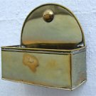 Antique brass wall hanging container spill pot wall pocket splints tapers SP2