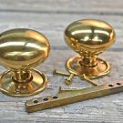 A PAIR CLASSIC VICTORIAN BRASS DOOR KNOBS INTERNAL DOOR KNOB HANDLES HANDLE OP1