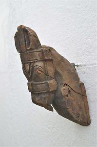 Original antique wood carving horse head corbel sconce horses head 1