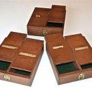 Set of 3 fantastic original antique spice box drawers scientific compound boxes
