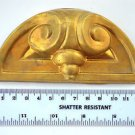Original antique pressed brass furniture mount mirror cartouche emblem B3