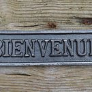 Cast iron vintage style BIENVENUE door sign wall raw iron French welcome SSBIEN