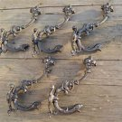 Set of 5 superb large cast iron serpent coat hook wall hanging coathooks AL68