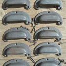 10 classic chunky cast iron vintage drawer pull handle industrial retro CS1