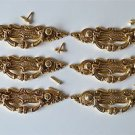 6 Victorian brass folliage drawer handle draw pull desk chest cabinet 2027
