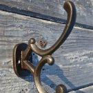 A LOVELY ADDISON ANTIQUE STYLE CAST IRON DOUBLE COAT HOOK COATHOOK HANGER