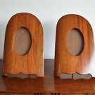pair of antique mahogany aeroplane propellor photo frames propeller trench art