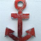 Large vintage style distressed metal anchor wall sign nautical beach art boat R
