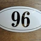 ANTIQUE STYLE ENAMEL DOOR NUMBER 96 HOUSE NUMBER DOOR SIGN PLAQUE