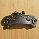 ANTIQUE STYLE ACANTHUS LEAF CAST IRON FURNITURE HANDLE DRAWER PULL WH2