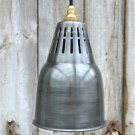 URBAN CHIC AGED STEEL HANGING VENTED LIGHT PENDANT SHADE CEILING LAMP UCG3