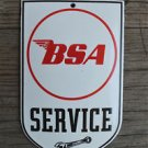 Superb heavy quality porcelain advertising sign BSA service garage plaque B1