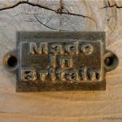 FANTASTIC LITTLE ANTIQUE STYLE MADE IN BRITAIN CAST IRON PLAQUE SIGN