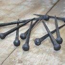 Set of 10 large handmade ball head wrought iron nails door stud hanger IN2