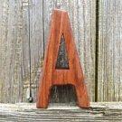 HANDCARVED WOODEN 3 DIMENSIONAL LETTER A SIGN FONT SHELF ART NAME LETTER