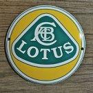 Superb heavy quality porcelain advertising sign Lotus garage plaque round