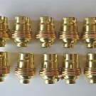 10 BRASS BAYONET FITTING BULB HOLDER LAMP HOLDER EARTHED SHADE RING 1/2 INCH L3