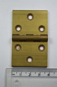 A square brass vintage Pembroke table flap hinge card table hinge P32