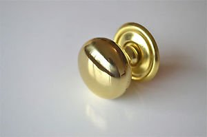 "SUPER QUALITY ENGLISH MADE 1 1/2"" BRASS SCREW IN DOOR KNOB DRAWER PULL KNOB CB14"