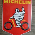 QUALITY ENAMEL MICHELIN MAN ON MOTORBIKE SIGN PLAQUE VINTAGE STYLE WALL SIGN SHI