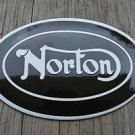 Superb heavy quality porcelain advertising sign Norton garage wall plaque