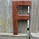 HANDCARVED WOODEN 3 DIMENSIONAL LETTER F SIGN FONT SHELF ART NAME LETTER