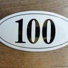 ANTIQUE STYLE ENAMEL DOOR NUMBER 100 HOUSE NUMBER DOOR SIGN PLAQUE