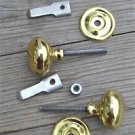 PAIR QUALITY ENGLISH MADE BRASS CUPBOARD CABINET TURN KNOB LATCH DOOR LATCH CB15