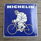 Quality porcelain advertising sign blue Michelin man bicycle garage plaque M6