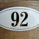 ANTIQUE STYLE ENAMEL DOOR NUMBER 92 HOUSE NUMBER DOOR SIGN PLAQUE