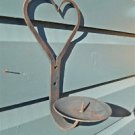 "HANDWROUGHT IRON SHAKER HEART CANDLE WALL SCONCE 8"" CANDLE HOLDER FOLK ART WH12"